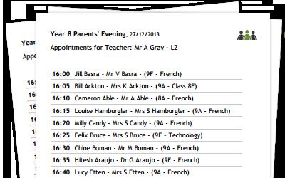 Parents Evening System Online Parents Evening Booking